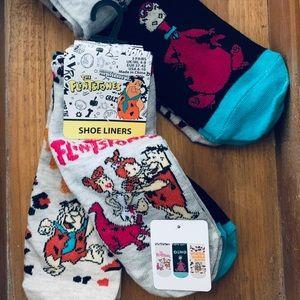 Accessories - Flintstones Shoe Liner Socks 3 Pairs